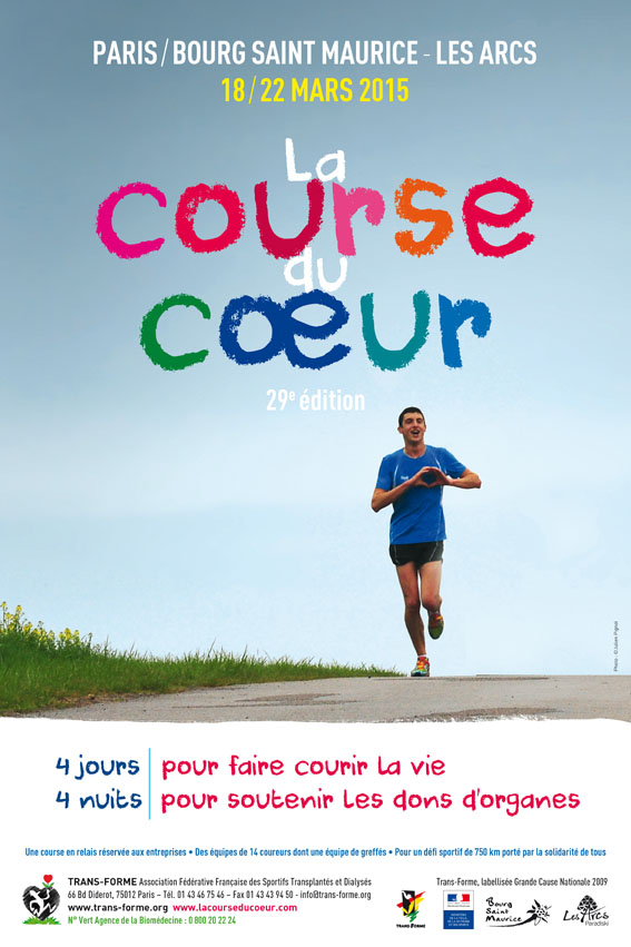 Affiche Officielle Course du Coeur 2015