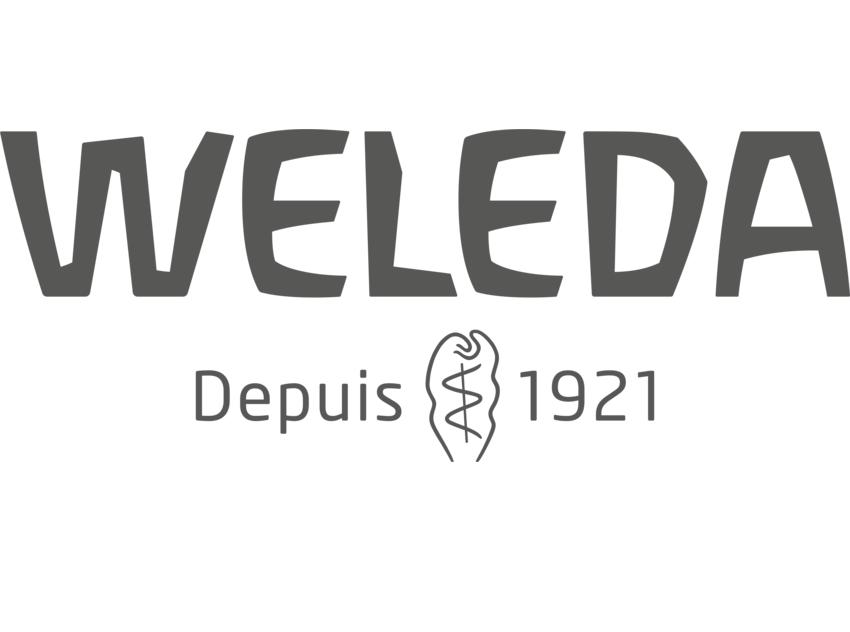 FR RGB Weleda Logo 2018 grey scr