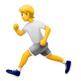 person running apple